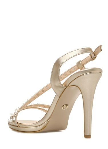 Divarese Topuklu Ayakkabı Sarı